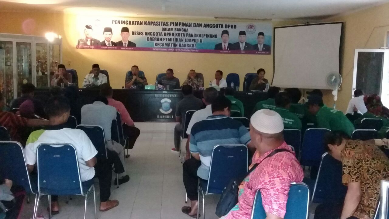 Reses Anggota Dewan Dapil II Kecamatan Rangkui. Achmad Subari: Masyarakat Harus Proaktif Mengawasi P